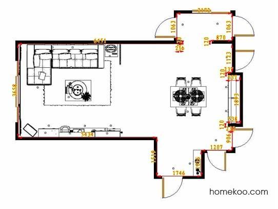 平面布置图柏俪兹系列客餐厅G12805