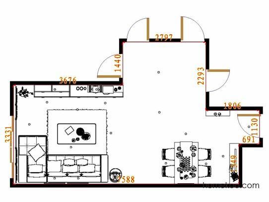平面布置图柏俪兹系列客餐厅G12815