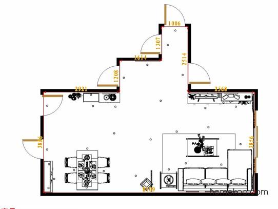 平面布置图斯玛特系列客餐厅G12822