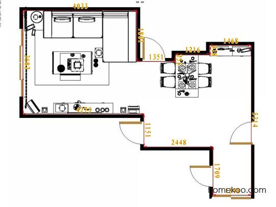 平面布置图斯玛特系列客餐厅G12824