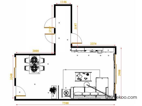 平面布置图贝斯特系列客餐厅G12831