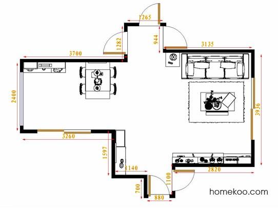 平面布置图柏俪兹系列客餐厅G12838