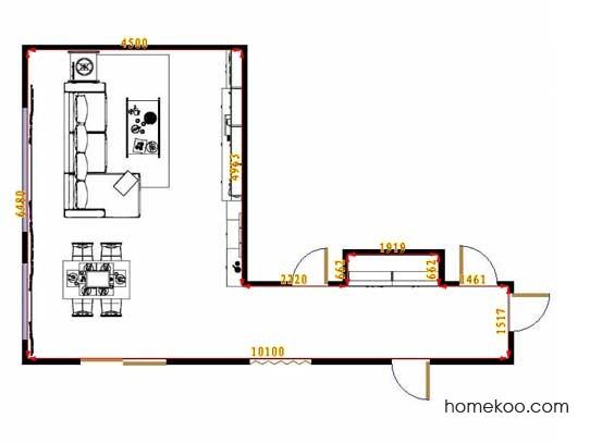 平面布置图斯玛特系列客餐厅G12863