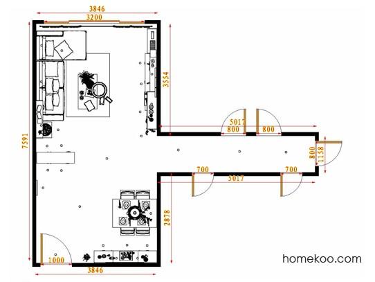 平面布置图斯玛特系列客餐厅G12928