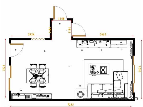 平面布置图斯玛特系列客餐厅G12951