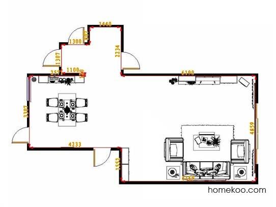 平面布置图贝斯特系列客餐厅G12955