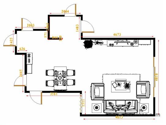 平面布置图斯玛特系列客餐厅G12996