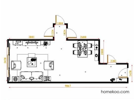 平面布置图乐维斯系列客餐厅G13014
