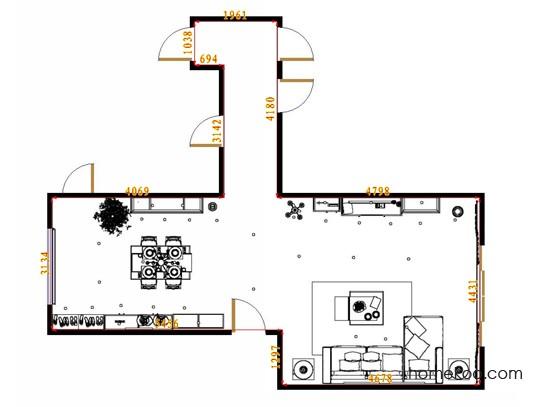 平面布置图柏俪兹系列客餐厅G13021