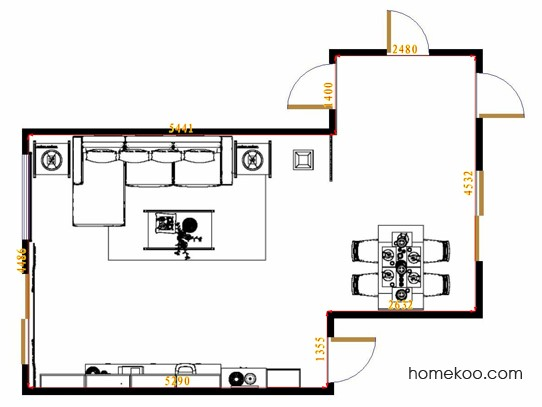 平面布置图乐维斯系列客餐厅G13025