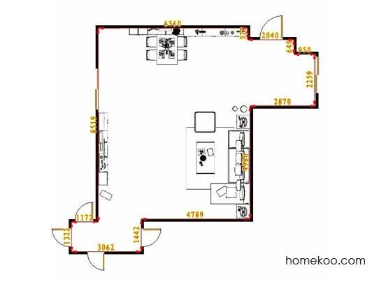 平面布置图格瑞丝系列客餐厅G13046