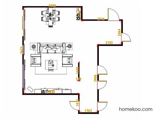 平面布置图柏俪兹系列客餐厅G13048