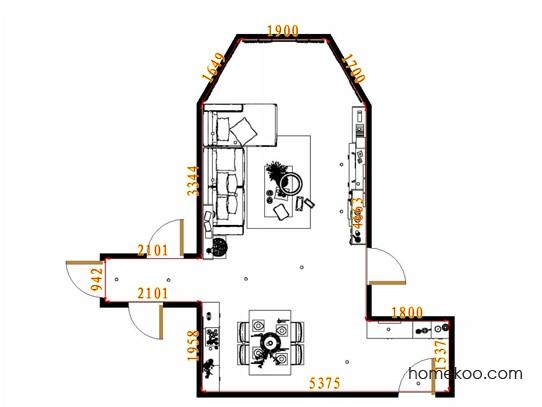 平面布置图斯玛特系列客餐厅G13056