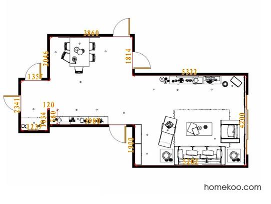 平面布置图德丽卡系列客餐厅G13062