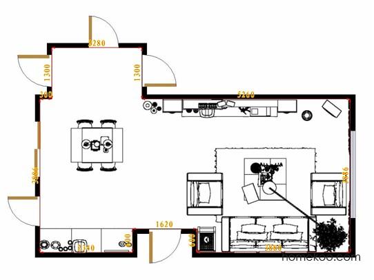 平面布置图柏俪兹系列客餐厅G13110