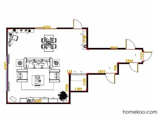 平面布置图乐维斯系列客餐厅G13154