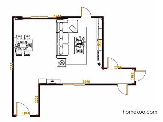 平面布置图德丽卡系列客餐厅G13160