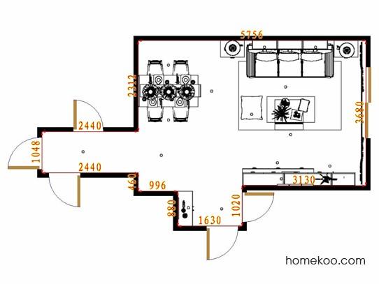平面布置图柏俪兹系列客餐厅G13163