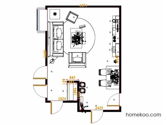 平面布置图斯玛特系列客餐厅G13169