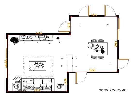 平面布置图柏俪兹系列客餐厅G13260