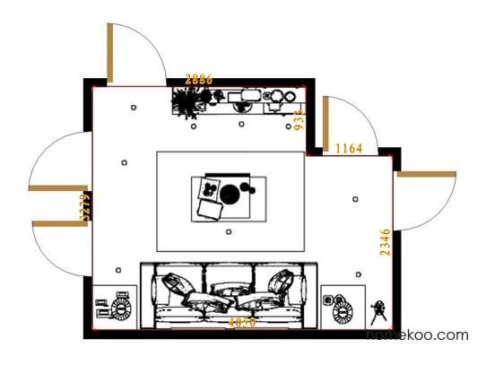 平面布置图德丽卡系列客餐厅G13270