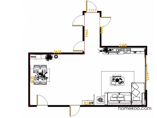 平面布置图乐维斯系列客餐厅G13273