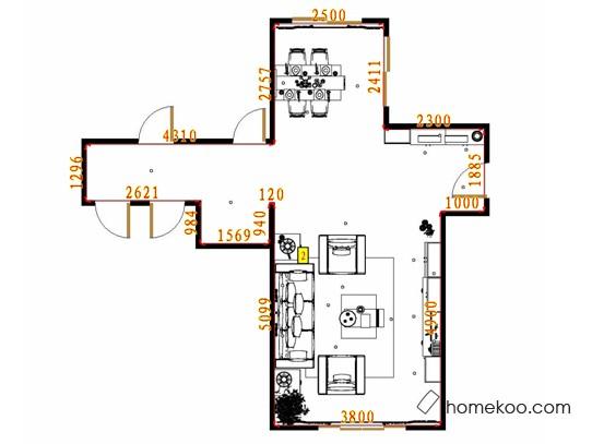 平面布置图斯玛特系列客餐厅G13313
