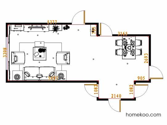 平面布置图斯玛特系列客餐厅G13314