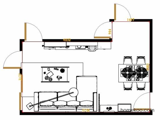 平面布置图乐维斯系列客餐厅G13325