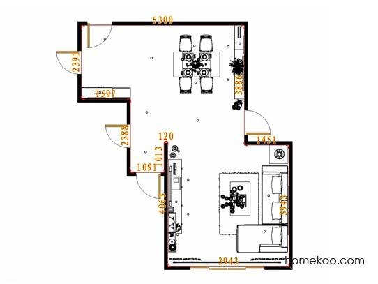 平面布置图德丽卡系列客餐厅G13326