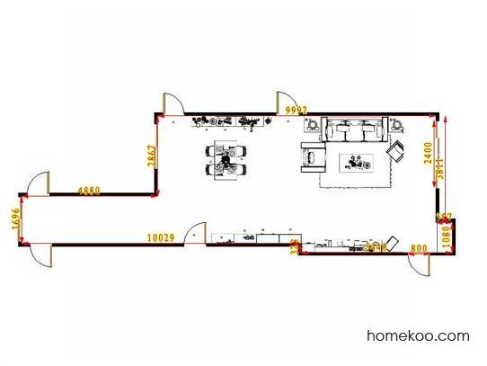 平面布置图柏俪兹系列客餐厅G13327