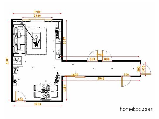 平面布置图柏俪兹系列客餐厅G13334