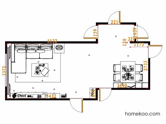 平面布置图斯玛特系列客餐厅G13341