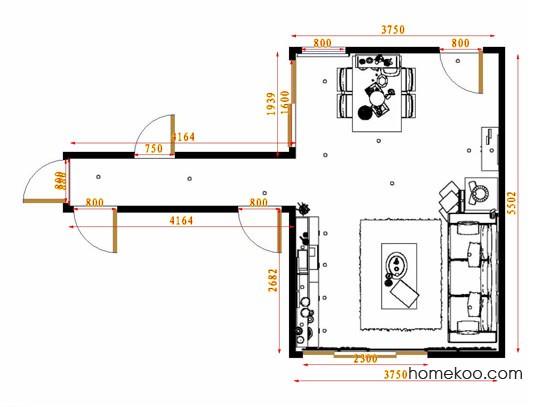 平面布置图柏俪兹系列客餐厅G13383