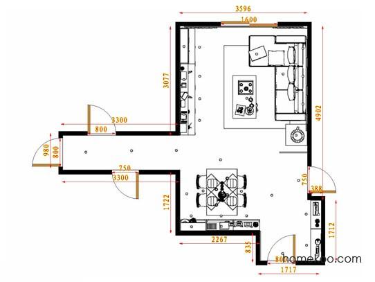 平面布置图格瑞丝系列客餐厅G13390