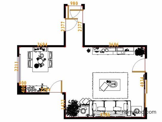 平面布置图贝斯特系列客餐厅G13406