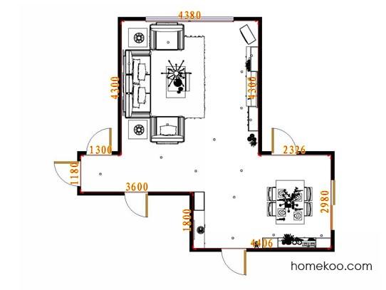 平面布置图乐维斯系列客餐厅G13414