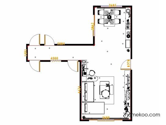 平面布置图乐维斯系列客餐厅G13416