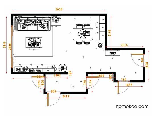 平面布置图德丽卡系列客餐厅G13445