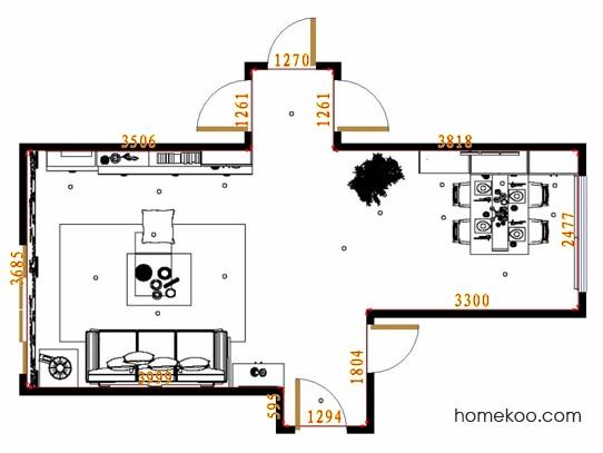 平面布置图柏俪兹系列客餐厅G13495