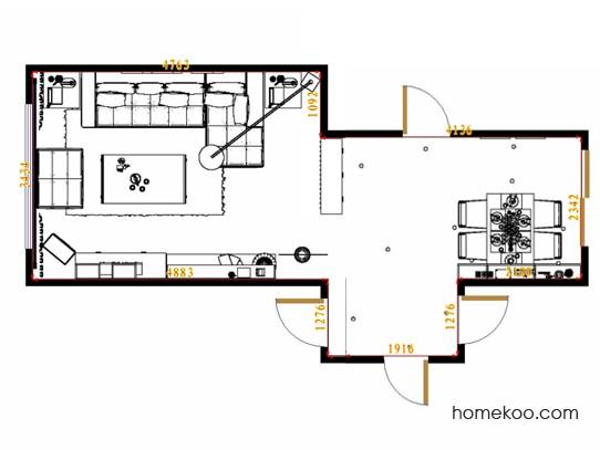 平面布置图乐维斯系列客餐厅G13519