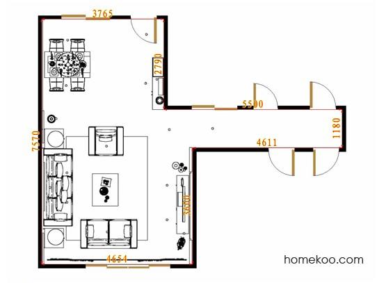 平面布置图柏俪兹系列客餐厅G13520