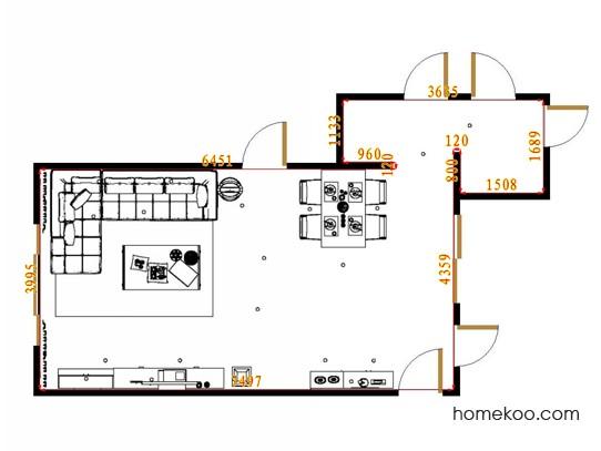 平面布置图德丽卡系列客餐厅G13535