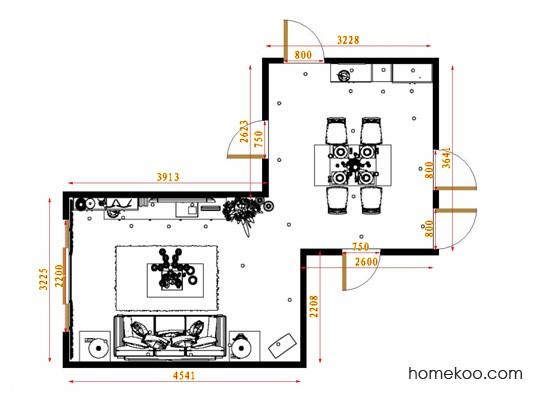 平面布置图斯玛特系列客餐厅G13539
