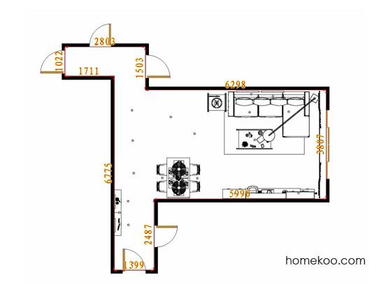 平面布置图格瑞丝系列客餐厅G13547