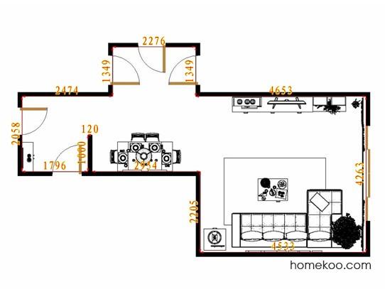 平面布置图乐维斯系列客餐厅G13612