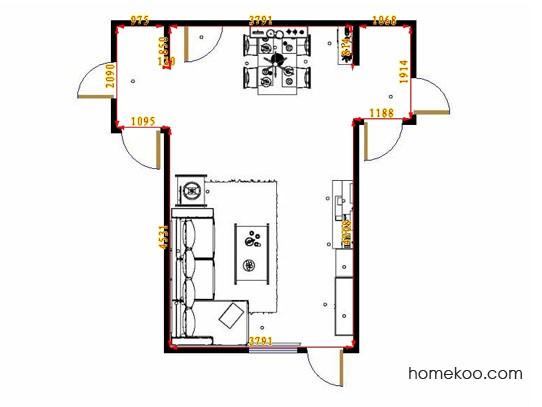 平面布置图乐维斯系列客餐厅G13619