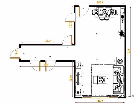 平面布置图乐维斯系列客餐厅G13637