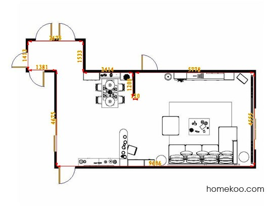 平面布置图乐维斯系列客餐厅G13655