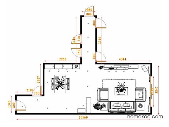 平面布置图斯玛特系列客餐厅G13663